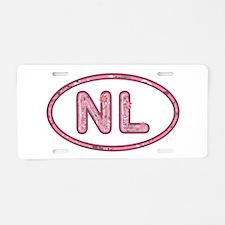 NL Pink Aluminum License Plate
