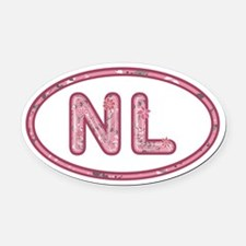 NL Pink Oval Car Magnet