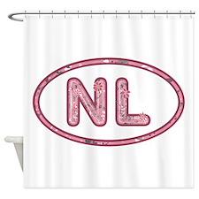 NL Pink Shower Curtain