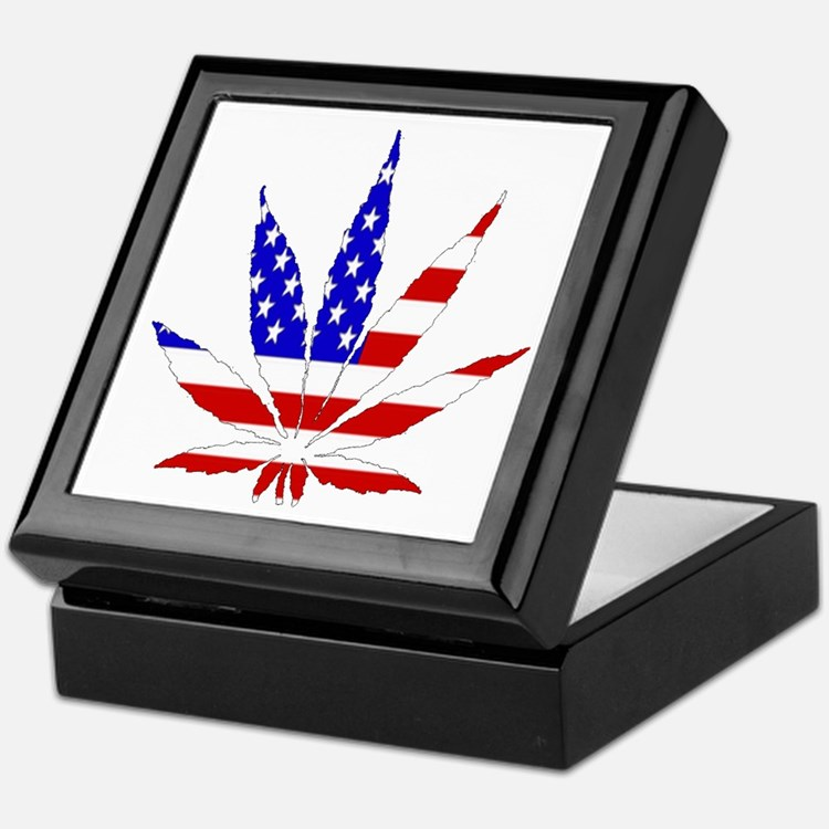 American Pot Leaf Keepsake Box