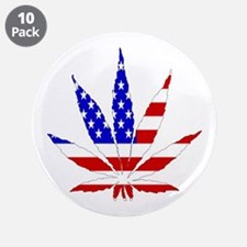 """American Pot Leaf 3.5"""" Button (10 pack)"""
