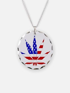 American Pot Leaf Necklace