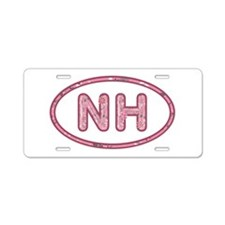 NH Pink Aluminum License Plate