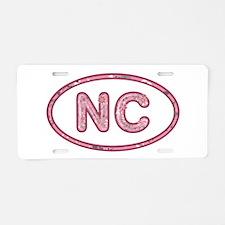 NC Pink Aluminum License Plate