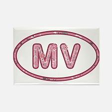 MV Pink Rectangle Magnet