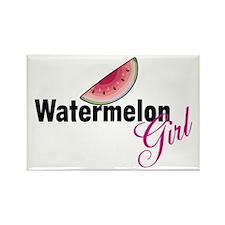 Watermelon Girl Rectangle Magnet