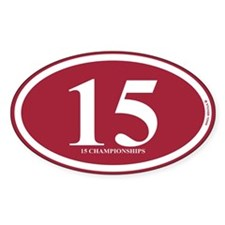15 Championships Decal