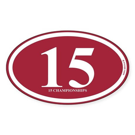 15 Championships Sticker (Oval)