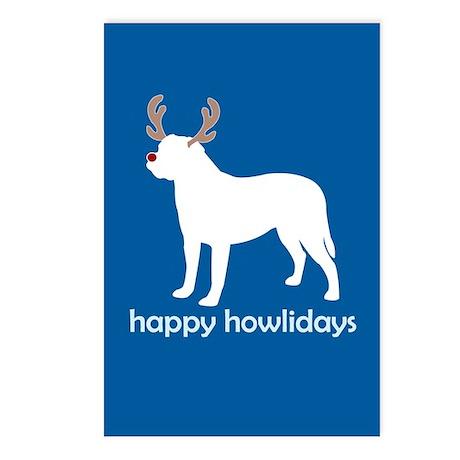 """Bullmastiff """"Happy Howlidays"""" Postcards (Package o"""