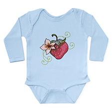 Strawberry Long Sleeve Infant Bodysuit