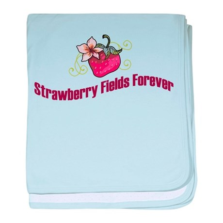 Strawberry Fields Forever baby blanket