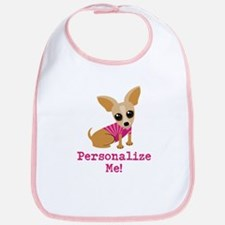Custom Pink Chihuahua Bib