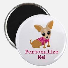 Custom Pink Chihuahua Magnet