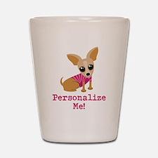 Custom Pink Chihuahua Shot Glass