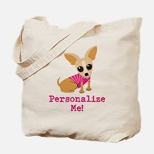 Custom Pink Chihuahua Tote Bag