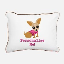 Custom Pink Chihuahua Rectangular Canvas Pillow