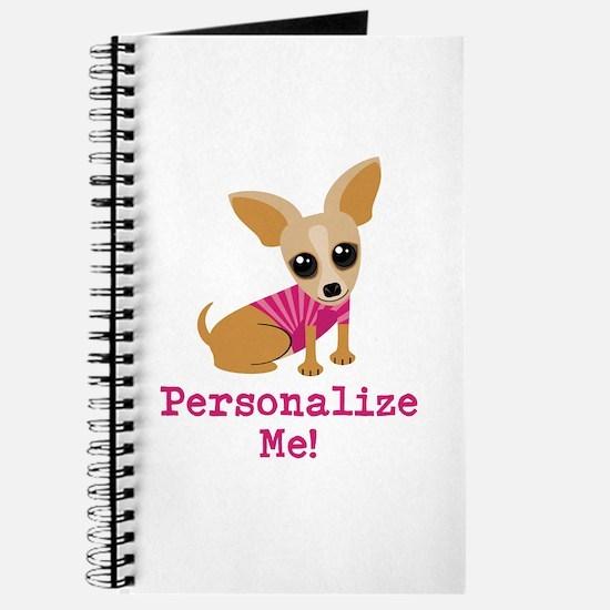 Custom Pink Chihuahua Journal