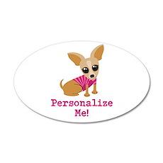 Custom Pink Chihuahua Wall Decal