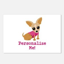 Custom Pink Chihuahua Postcards (Package of 8)