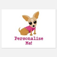 Custom Pink Chihuahua 5x7 Flat Cards