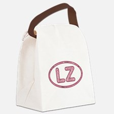 LZ Pink Canvas Lunch Bag