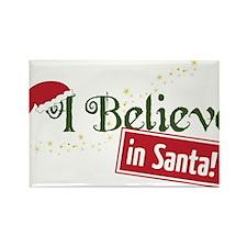 Believe In Santa Rectangle Magnet