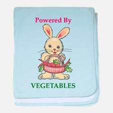Powered by Vegetables baby blanket