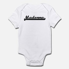 Black jersey: Madonna Infant Bodysuit