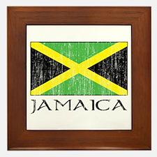 Jamaica Flag Framed Tile