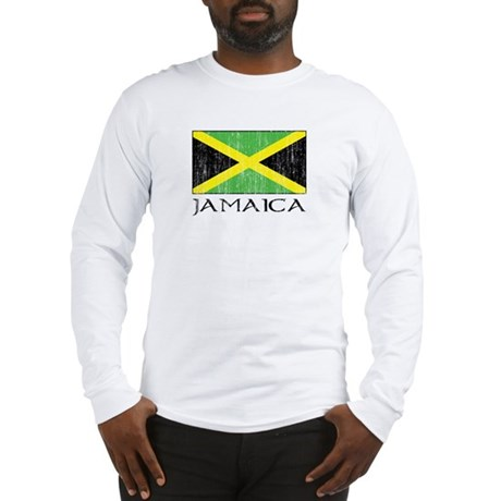 Jamaica Flag Long Sleeve T-Shirt