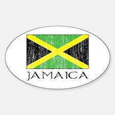 Jamaica Flag Oval Decal