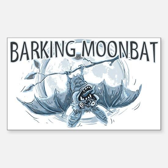 Barking Moonbat Rectangle Decal