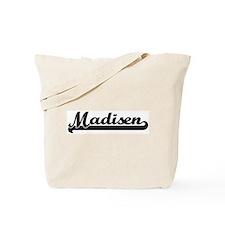 Black jersey: Madisen Tote Bag
