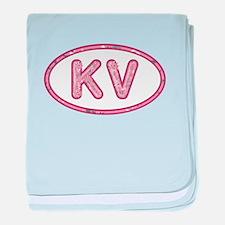 KV Pink baby blanket