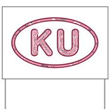 KU Pink Yard Sign