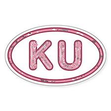 KU Pink Decal