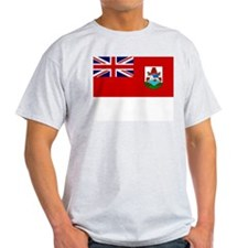 Bermuda Flag Picture Ash Grey T-Shirt