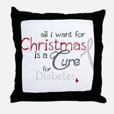 Cure For Diabetes Throw Pillow