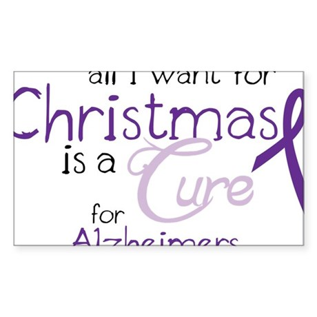 Cure For Alzheimers Sticker (Rectangle)