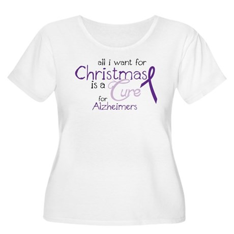 Cure For Alzheimers Women's Plus Size Scoop Neck T
