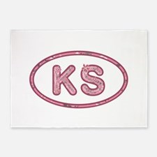 KS Pink 5'x7'Area Rug