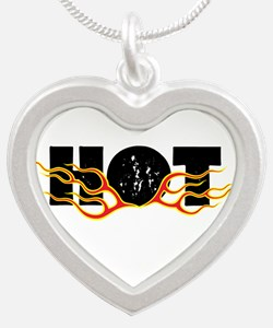 Hot Fire Silver Heart Necklace