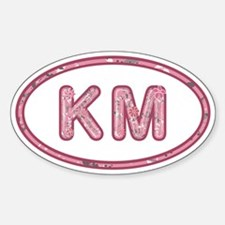 KM Pink Sticker (Oval)