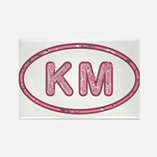 KM Pink Rectangle Magnet