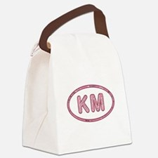 KM Pink Canvas Lunch Bag