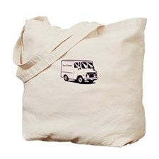 white ice cream truck funny tee Tote Bag