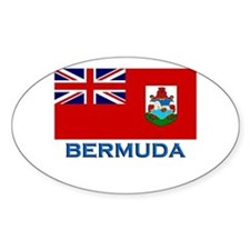 Bermuda Flag Stuff Oval Stickers