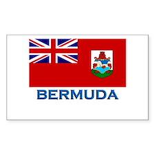 Bermuda Flag Stuff Rectangle Decal