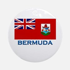 Bermuda Flag Stuff Ornament (Round)