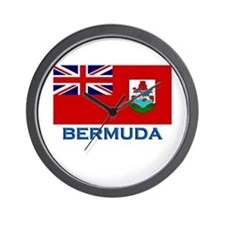 Bermuda Flag Stuff Wall Clock